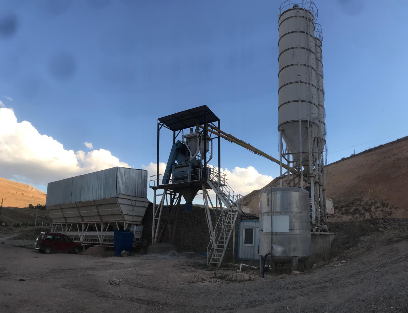 İkinci El Sabit Beton Santrali Tesisi – 60 m3